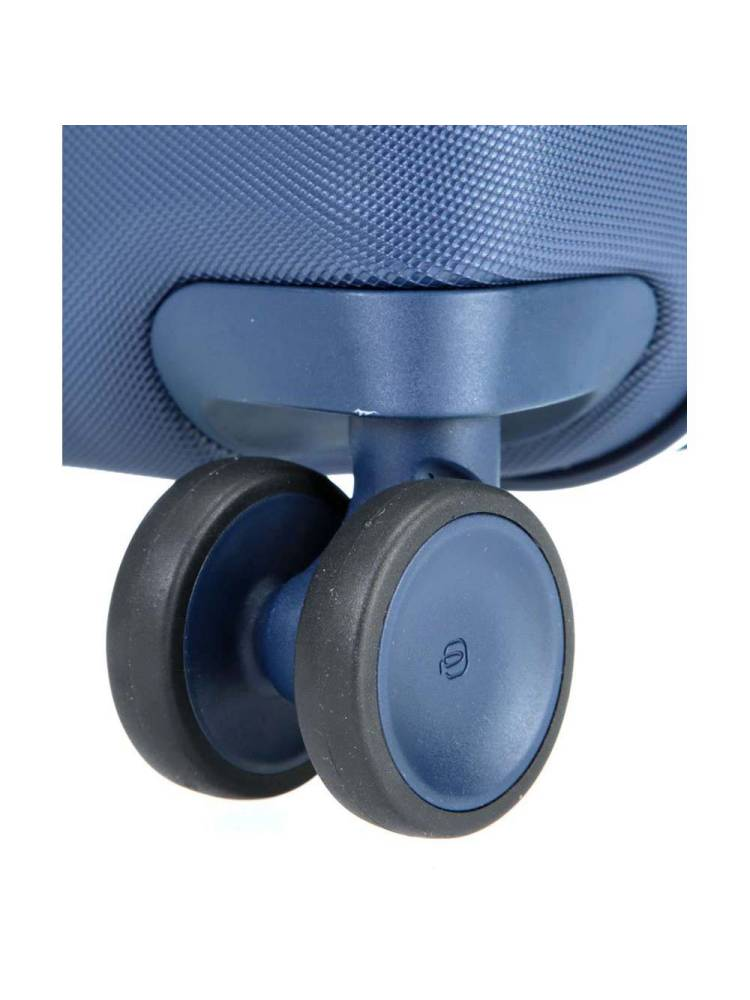 Piquadro Ultra slim hardside spinner with Tsa lock blauw | Wennekes.nl