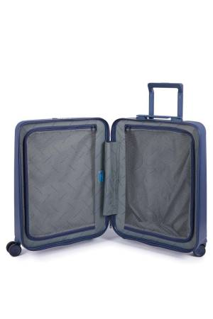 Piquadro Pc cabin hardside spinner with Ipad air/ pro 10 blauw | Wennekes.nl