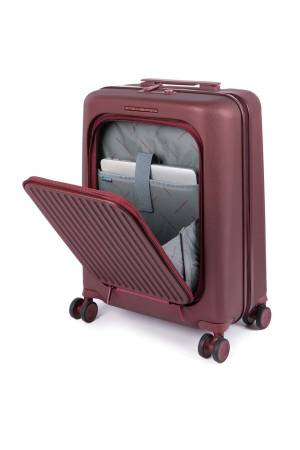 Piquadro PC Cabin Hardside Spinner with iPad Air/ Pro 10 rood | Wennekes.nl