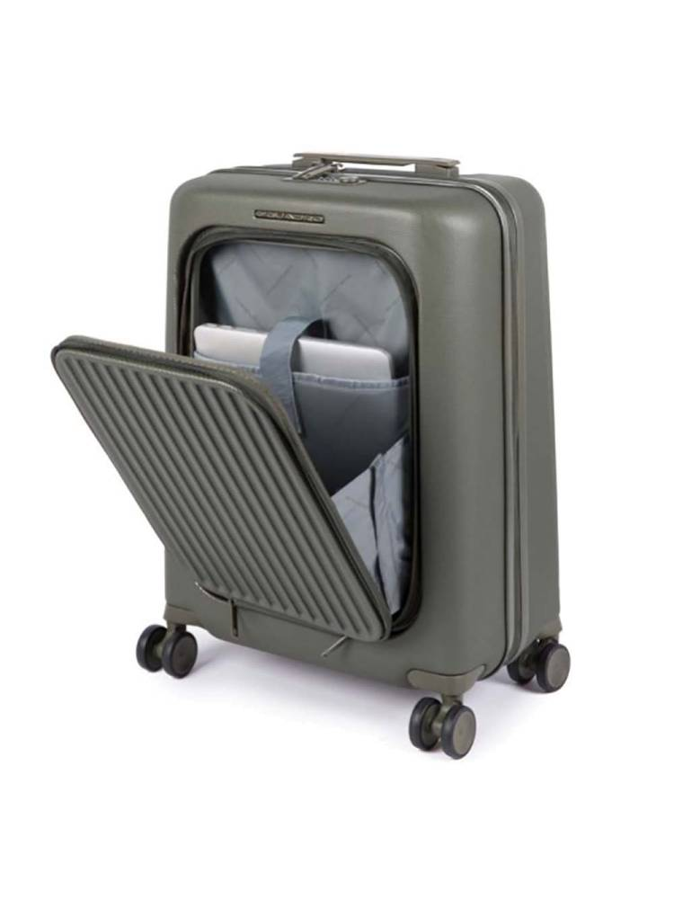 Piquadro PC Cabin Hardside Spinner with iPad Air/ Pro 10 roen | Wennekes.nl