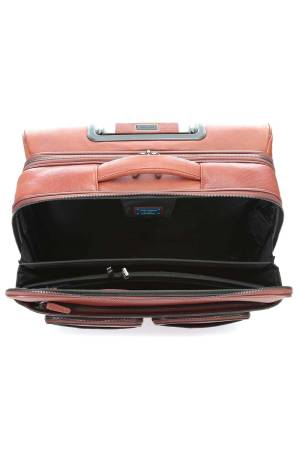 Piquadro Bagmotic Wheeled PC Briefcase/ IPad Compartment bruin | Wennekes.nl