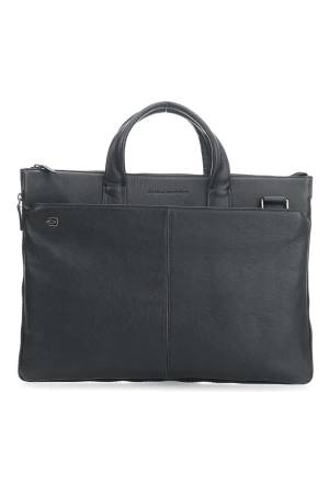 Black Square Expandable Slim Computer Bag