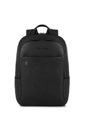 Piquadro Black Square Computer Backpack with Ipad Compartiment zwart | Wennekes.nl