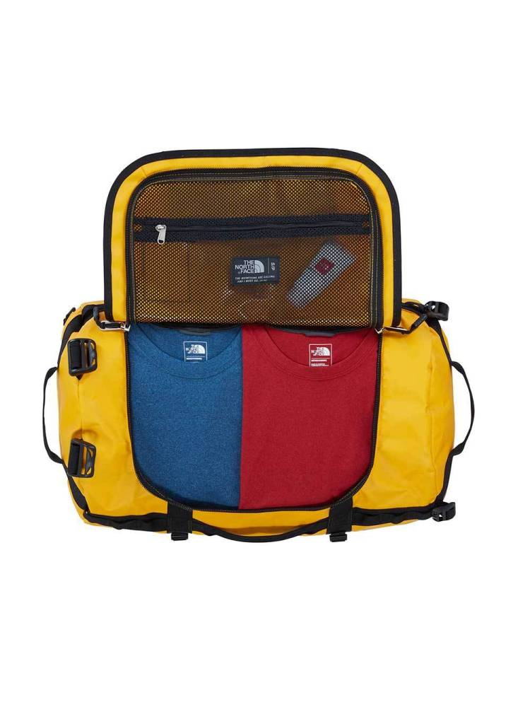 The North Face Base Camp Duffle S geel combi | Wennekes.nl