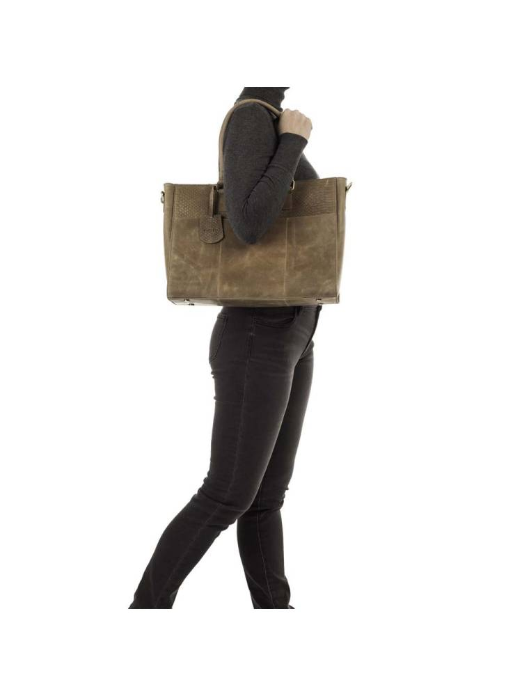 Burkely Hunt Hailey Workbag 14 inch taupe | Wennekes.nl