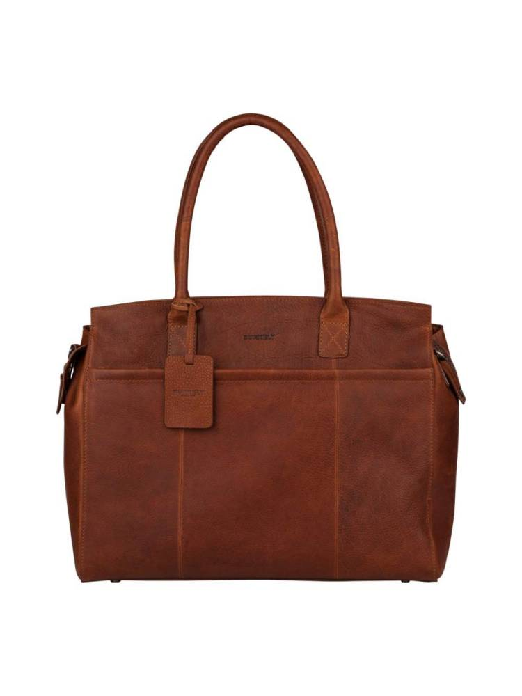 Burkely Antique Avery Laptopbag 15.6 inch cognac | Wennekes.nl