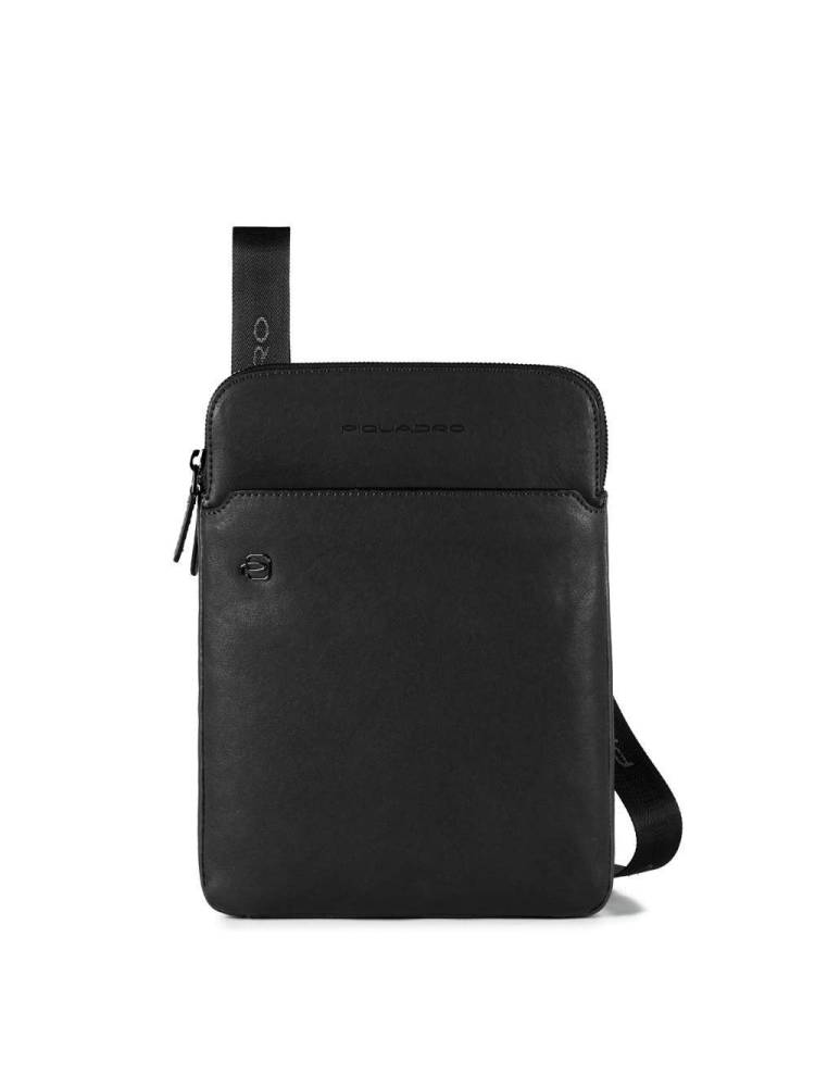 Piquadro Crossbody Bag with iPad Air/ Pro 9.7 inch Compartment zwart | Wennekes.nl