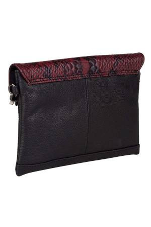 Burkely Evening Snake Clutch rood multi | Wennekes.nl