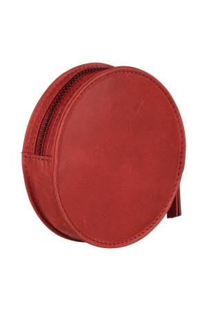 Burkely Desert Daisy Wallet Round rood | Wennekes.nl