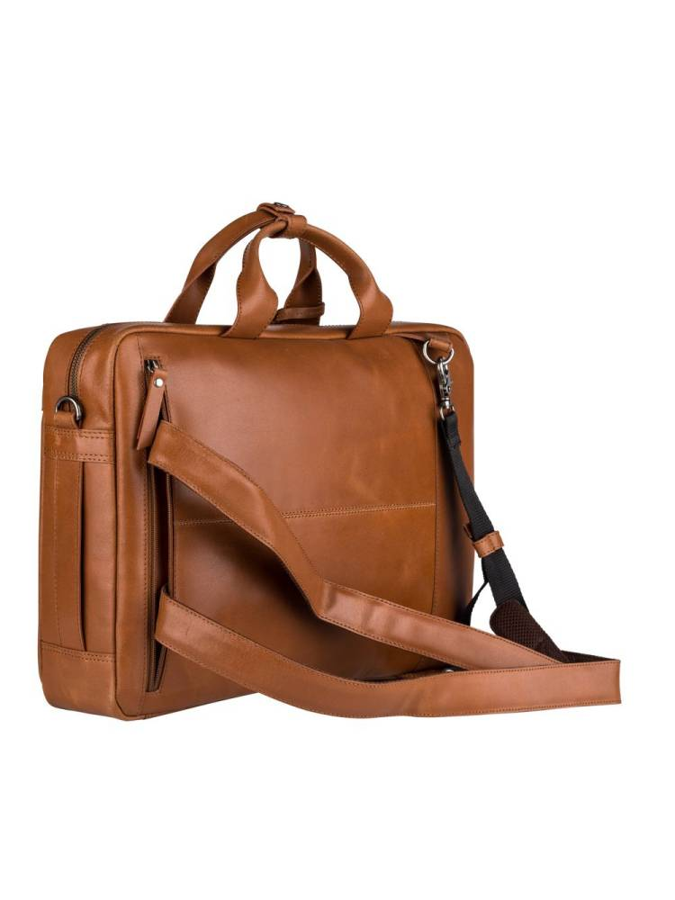 Burkely On The Move 4-Way Workbag cognac | Wennekes.nl