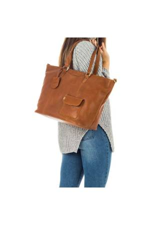 Burkely Craft Caily Wide Shopper bruin | Wennekes.nl