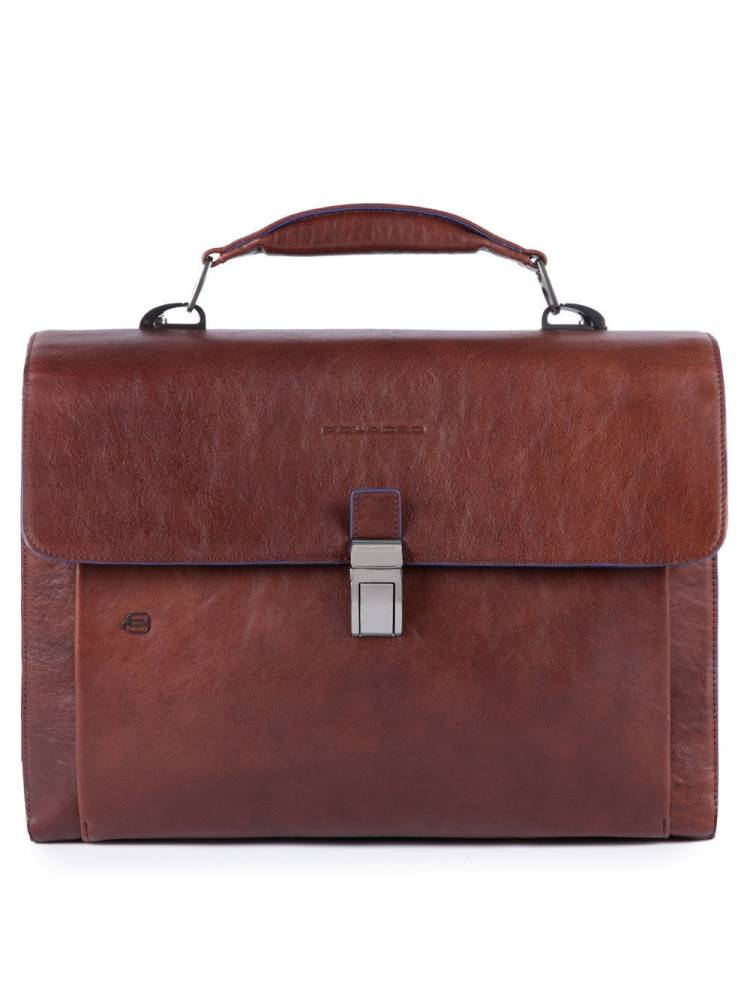Piquadro Computer Briefcase with Ipad 10.5/9.7 inch bruin | Wennekes.nl