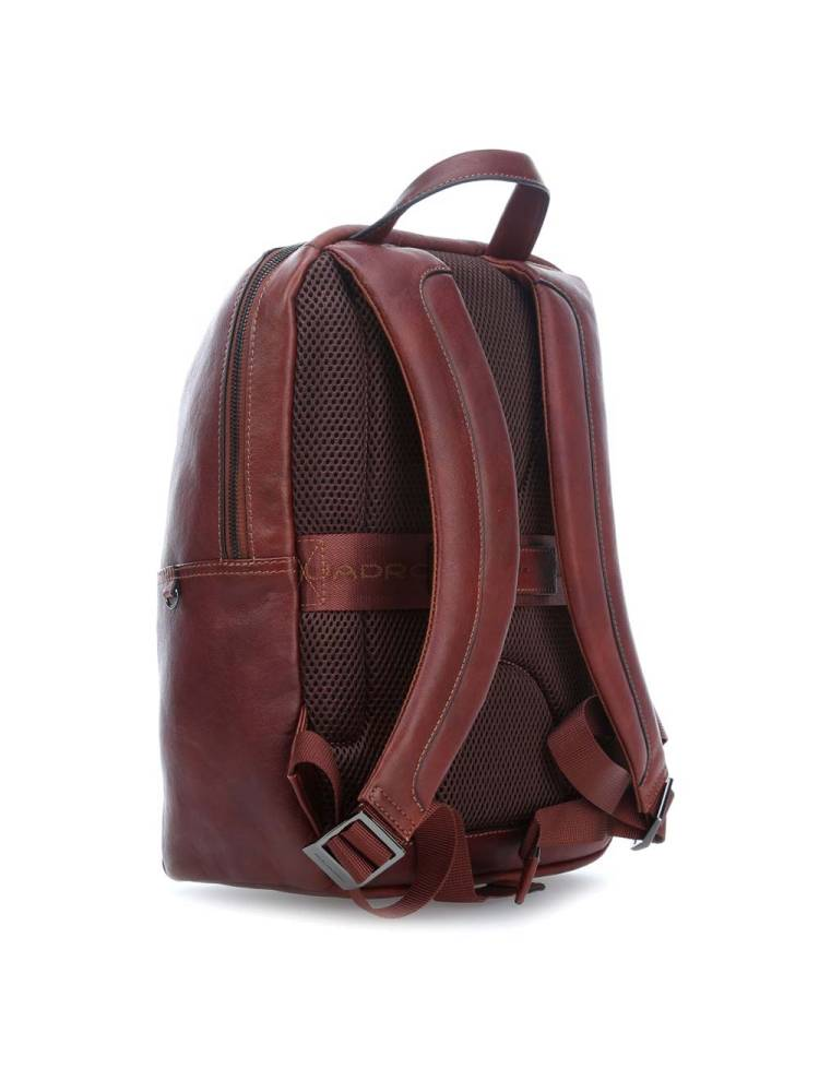 Piquadro Zaino in Pelle 12.9 inch laptop/Ipad Backpack licht bruin | Wennekes.nl
