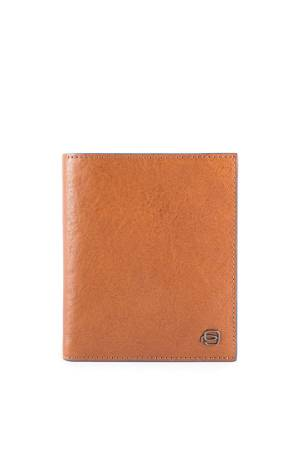 Piquadro Portemonnee Vertical Flip Men`s Wallet with Coin Case