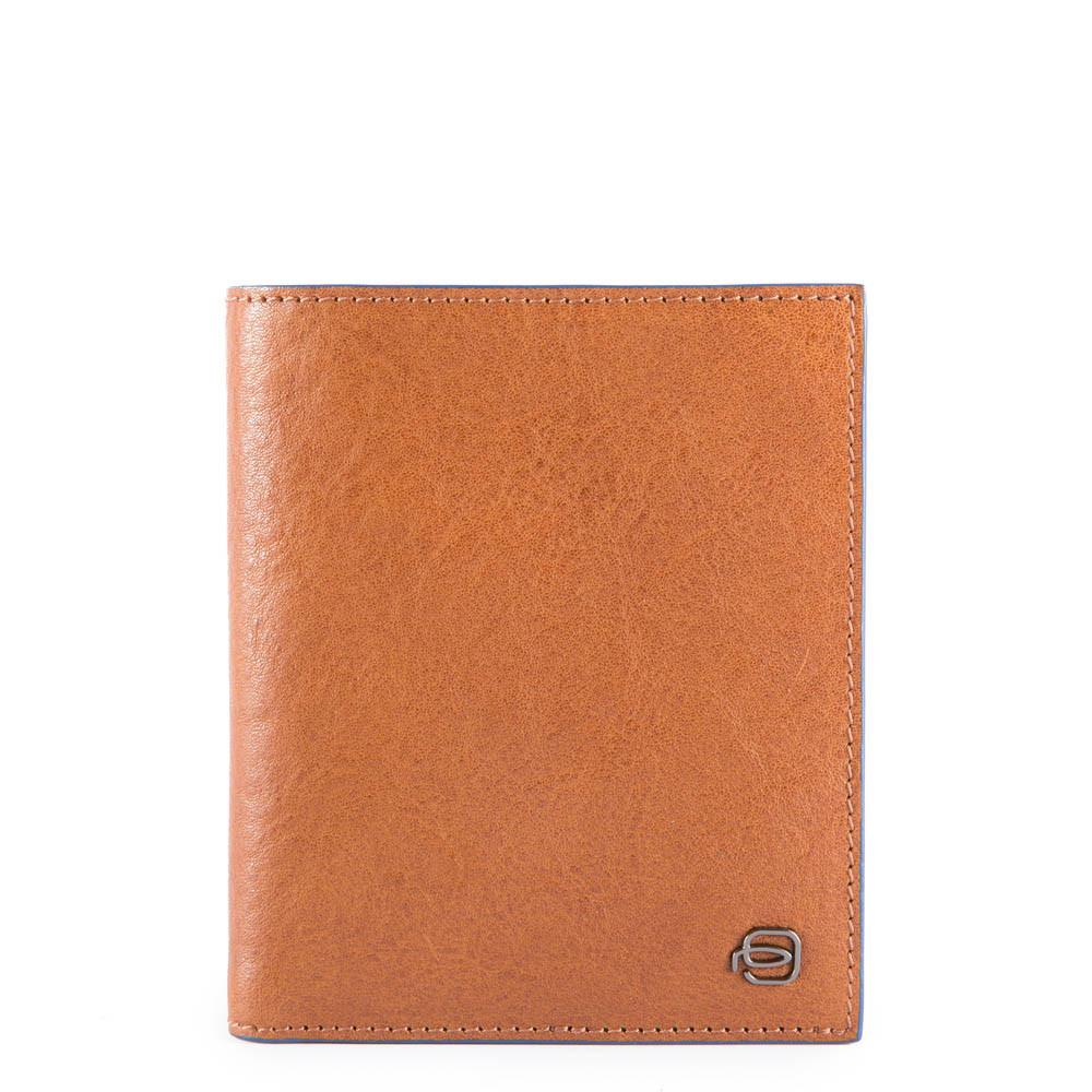 Vertical Flip Men's Wallet with Coin Case