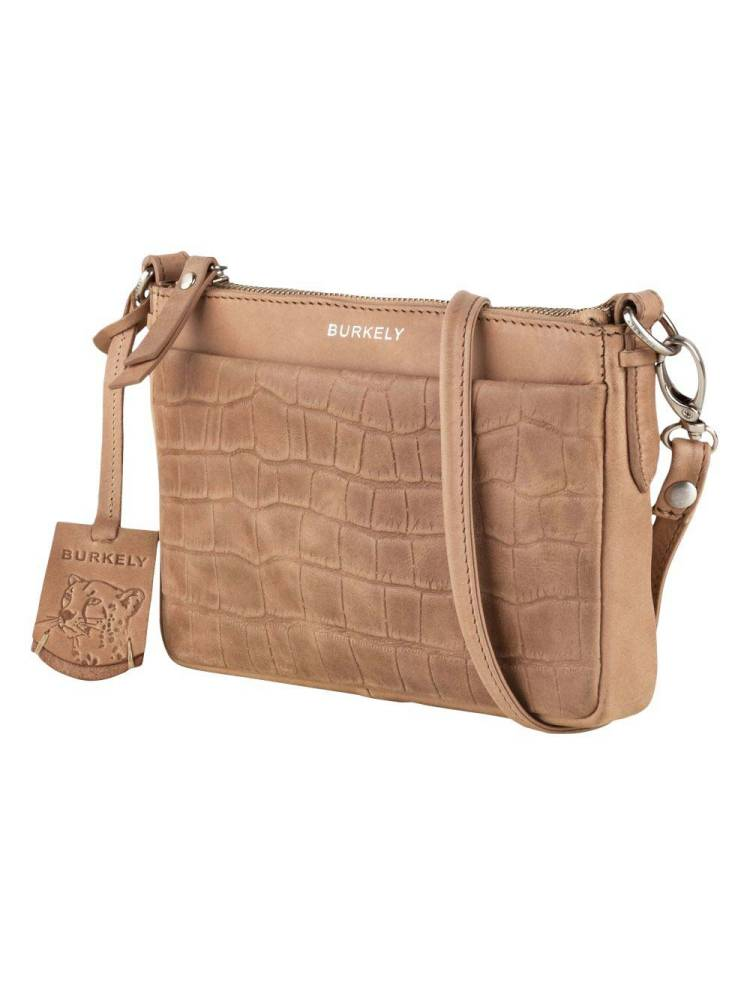 Burkely Croco Caia Crossover Clutch M taupe | Wennekes.nl