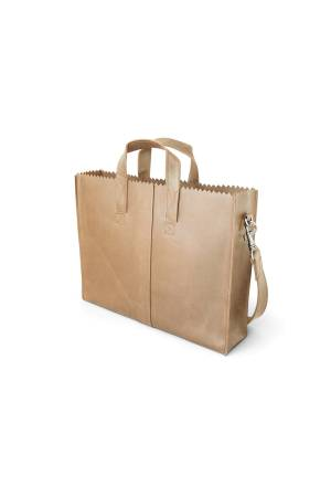 Myomy Do Goods My Paper Bag Businessbag licht bruin | Wennekes.nl