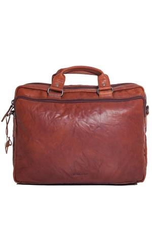 Spikes en Sparrow Werktassen 3 Zipper Business Bag Bronco