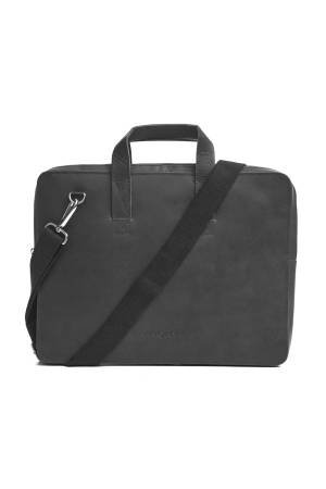 Myomy Do Goods My Paper Bag Laptop Bag antraciet | Wennekes.nl