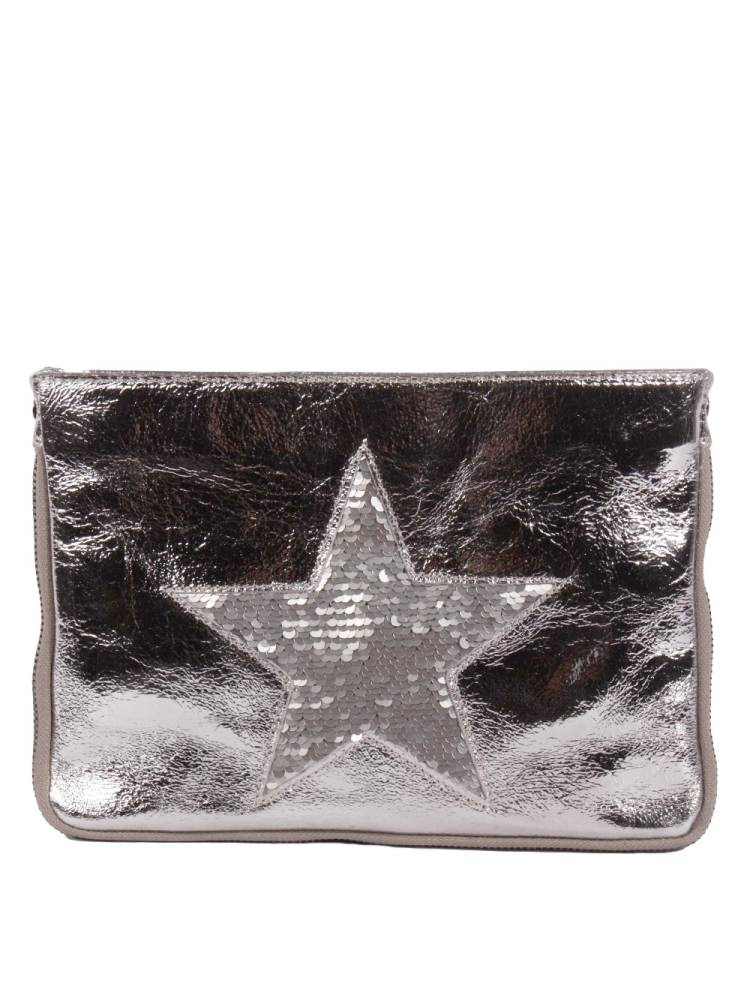 Florence Bags Glittering Star Clutch zilver | Wennekes.nl