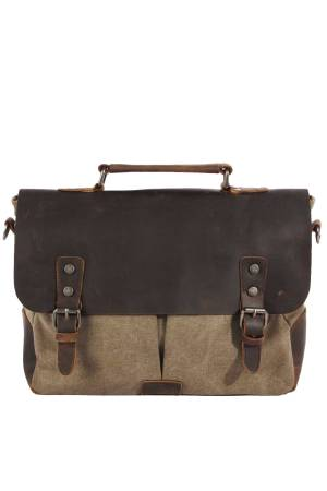 Awesome Tas Awesome Briefcase Canvas Leather