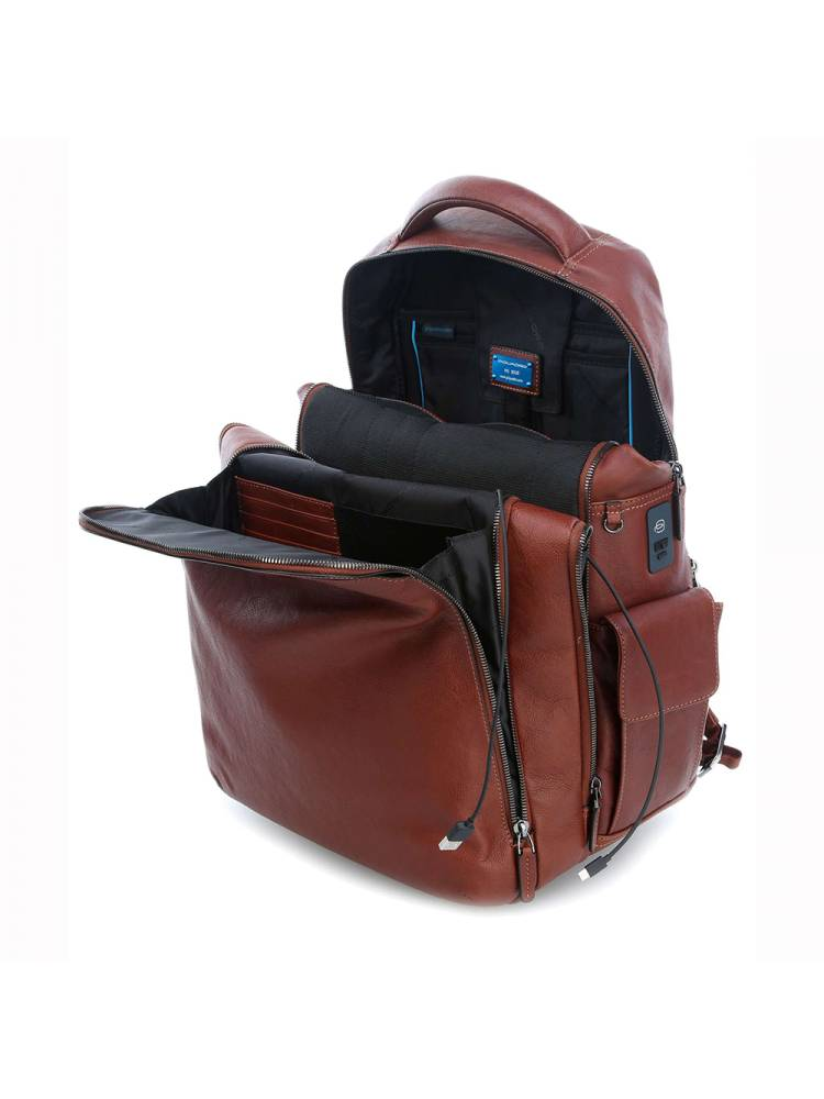 Piquadro Laptop Backpack With iPad Air Pr bruin | Wennekes.nl