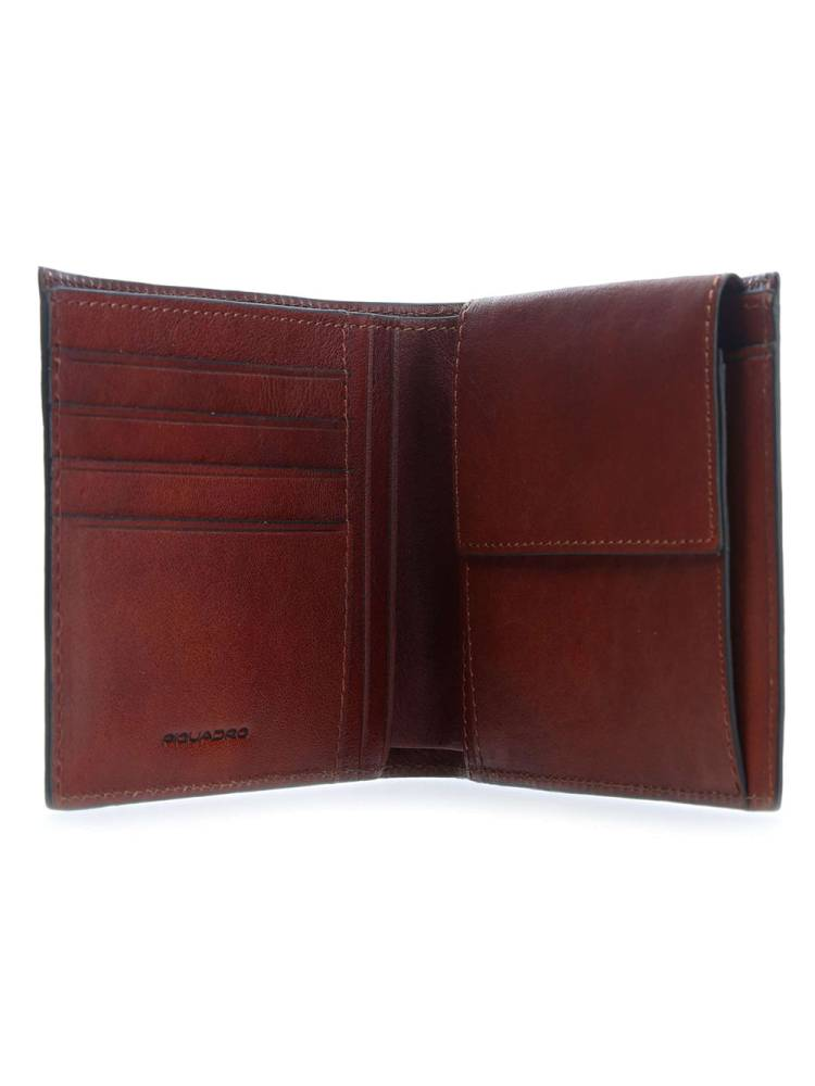Piquadro Men's Wallet Vertical With Coin bruin | Wennekes.nl