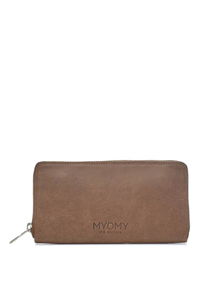 Myomy Do Goods My Paper Bag Wallet bruin | Wennekes.nl