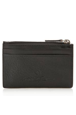 Castelijn & Beerens Nova 4 Card Holder Mini Wallet zwart | Wennekes.nl